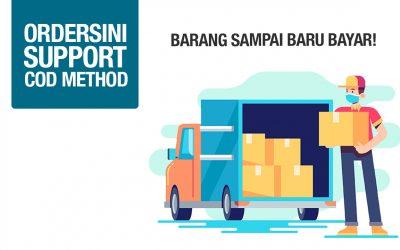 Ordersini Dah Support Pembayaran Cara COD (Cash On Delivery) Untuk Semua Logistic