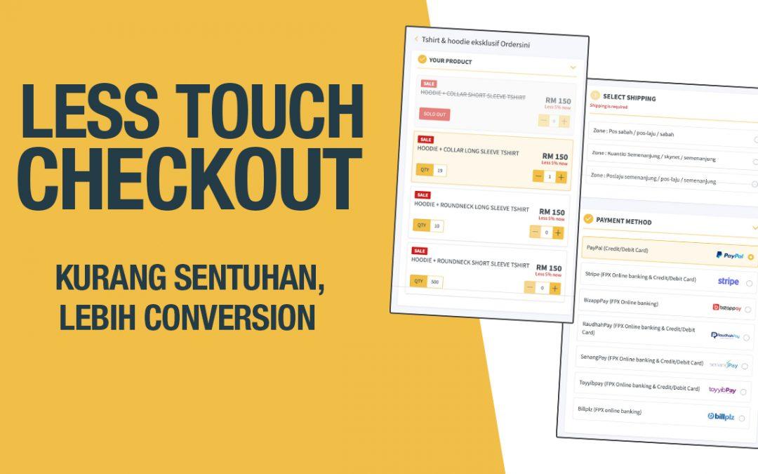 8 Kelebihan Dalam Less Touch Checkout Form Ordersini Untuk Peniaga Online