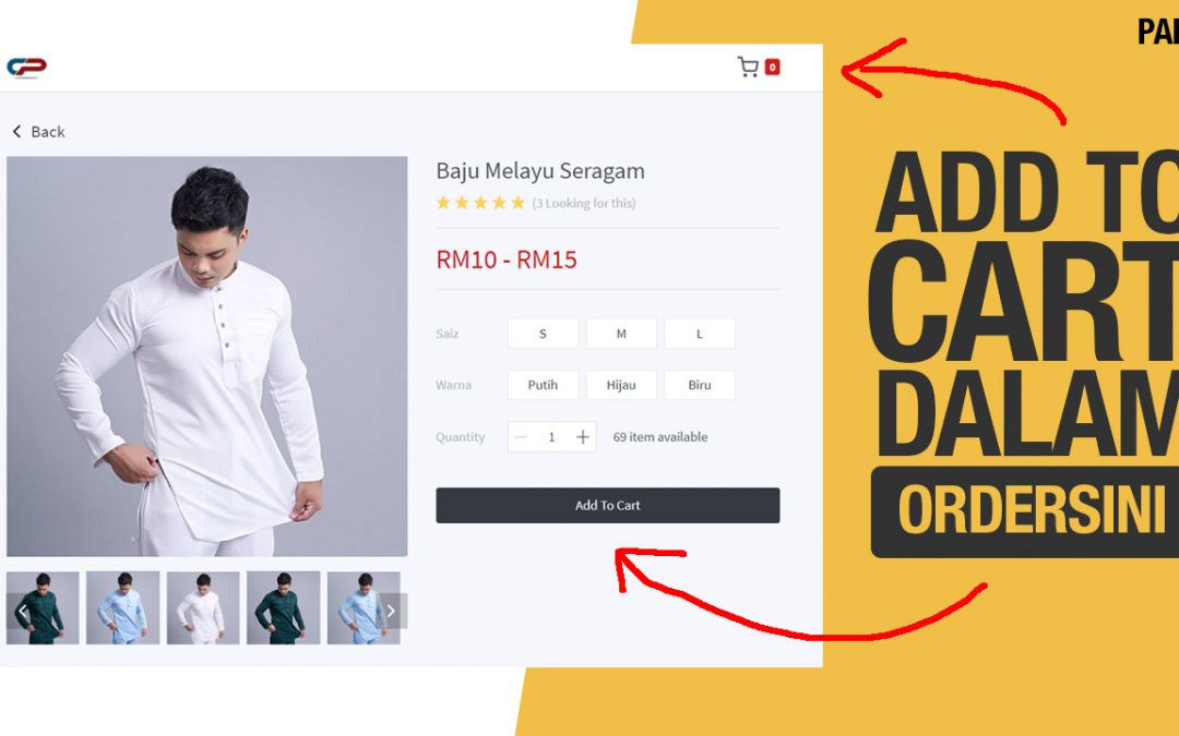 Ecommerce, Add To Cart & Automatic Follow Up Dalam Ordersini