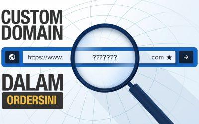 Setup Custom Domain Dalam Ordersini